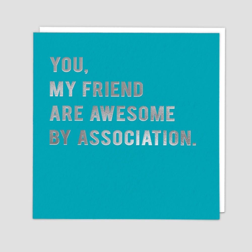 Sarcastic Birthday Cards - AWESOME By ASSOCIATION - Funny BIRTHDAY Cards -
