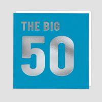 50th Birthday Cards - THE BIG 50  - 50th - Birthday CARDS - 50th BIRTHDAY Card FOR Son - FRIEND -  Dad - COUSIN - Husband - SON In LAW - Boyfriend