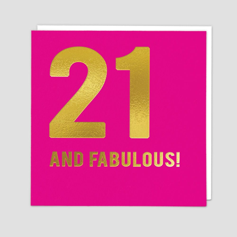 21st Birthday Cards - 21 AND FABULOUS - 21st - Birthday CARDS - 21st BIRTHD