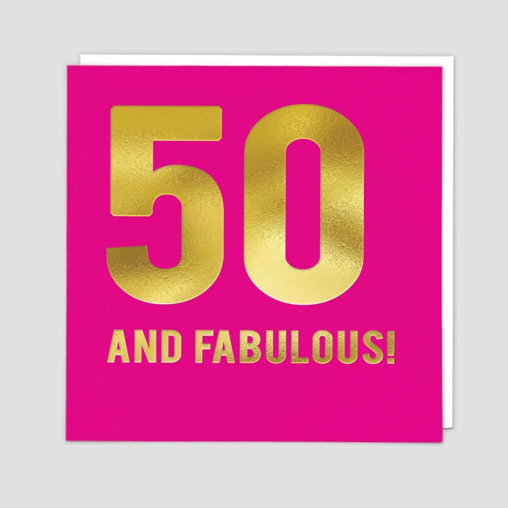 50th Birthday Cards - 50 AND FABULOUS - 50th - Birthday CARDS - 50th BIRTHD