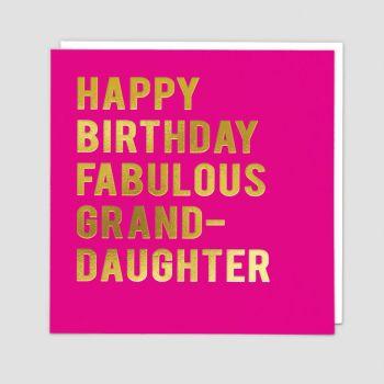 Granddaughter Birthday Cards - HAPPY Birthday FABULOUS Granddaughter - BIRTHDAY Card For GRANDDAUGHTER - Granddaughter CARD - Birthday CARDS