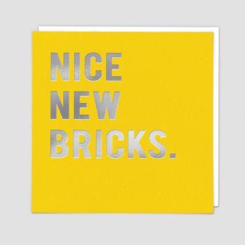 New Home Greeting Cards - NICE New BRICKS - New HOME Cards - NEW Home & New ADDRESS Cards - NEW House CARDS