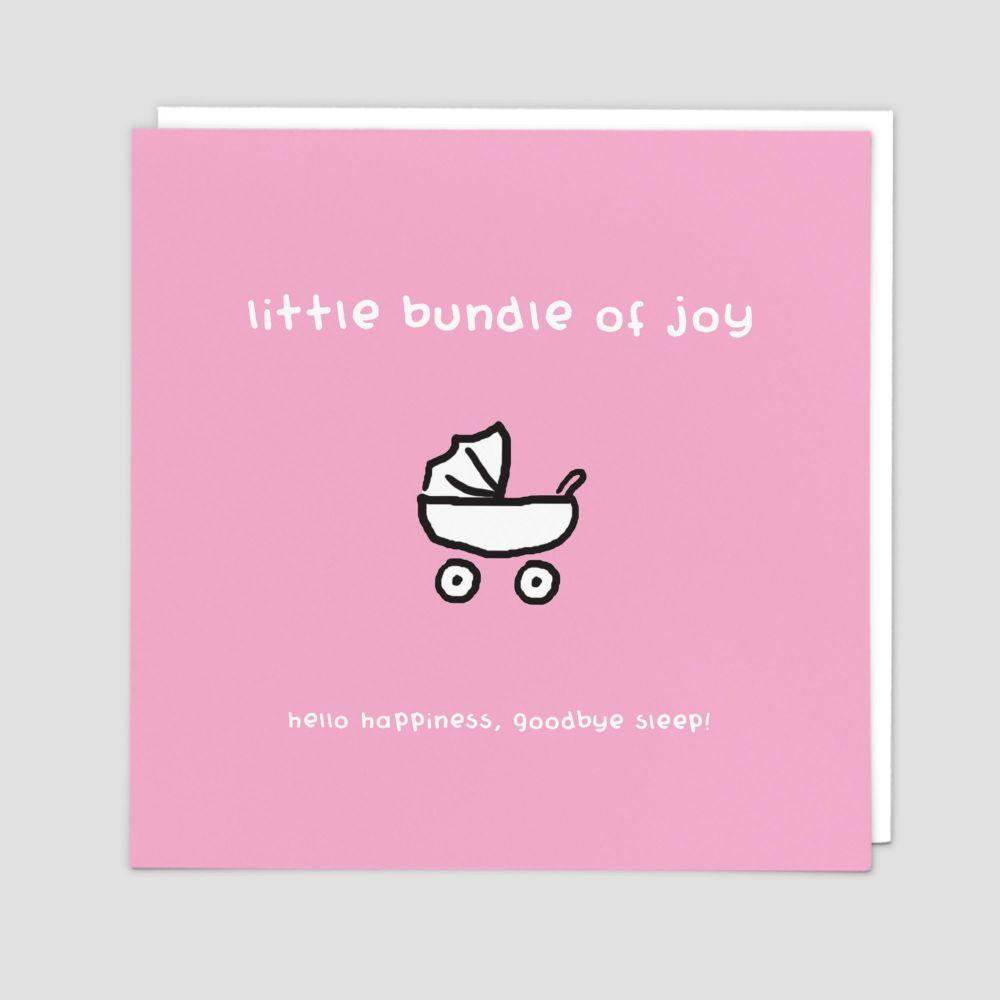 New Baby Girl Cards - HELLO Happiness GOODBYE Sleep FUNNY New BABY Cards -