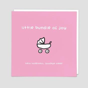 New Baby Girl Cards - HELLO Happiness GOODBYE Sleep FUNNY New BABY Cards - New BABY Cards - CONGRATULATIONS Baby GIRL Card