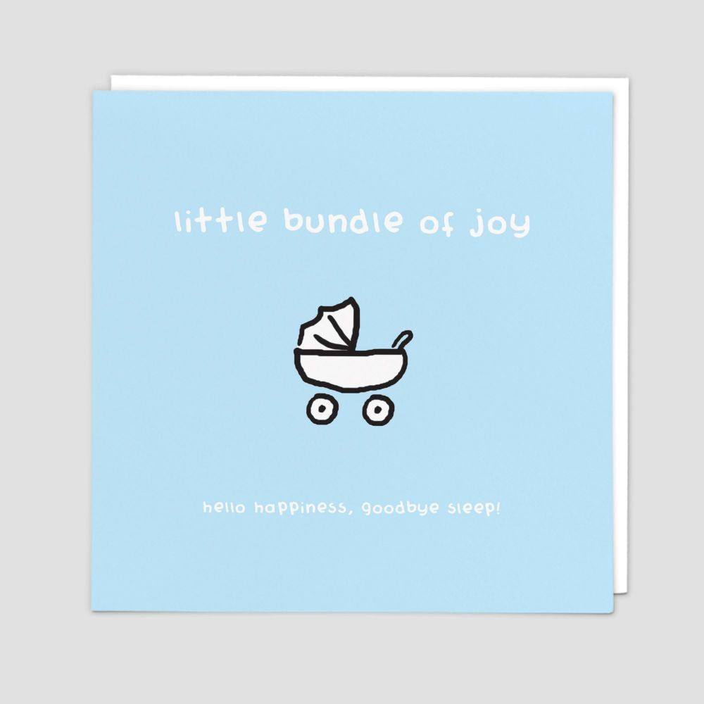 New Baby Boy Cards - HELLO Happiness GOODBYE Sleep FUNNY New BABY Cards - N