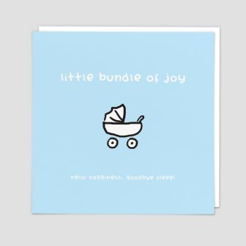 New Baby Boy Cards - HELLO Happiness GOODBYE Sleep FUNNY New BABY Cards - New BABY Cards - CONGRATULATIONS Baby BOY  Card