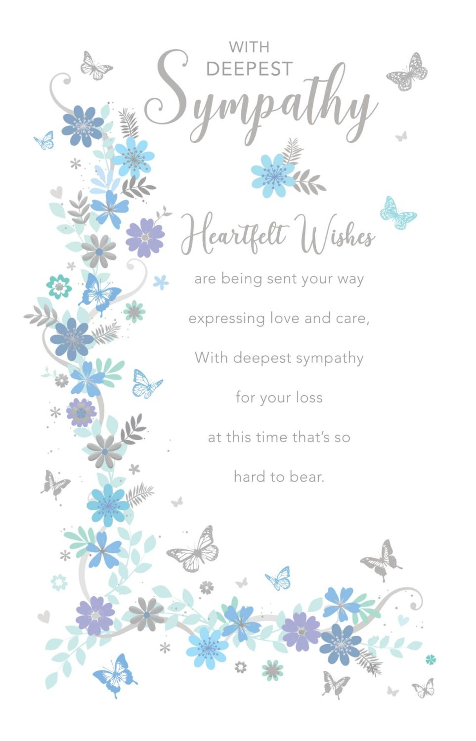 Heartfelt Wishes Sympathy  Cards - EXPRESSING Love And CARE - CONDOLENCE Ca