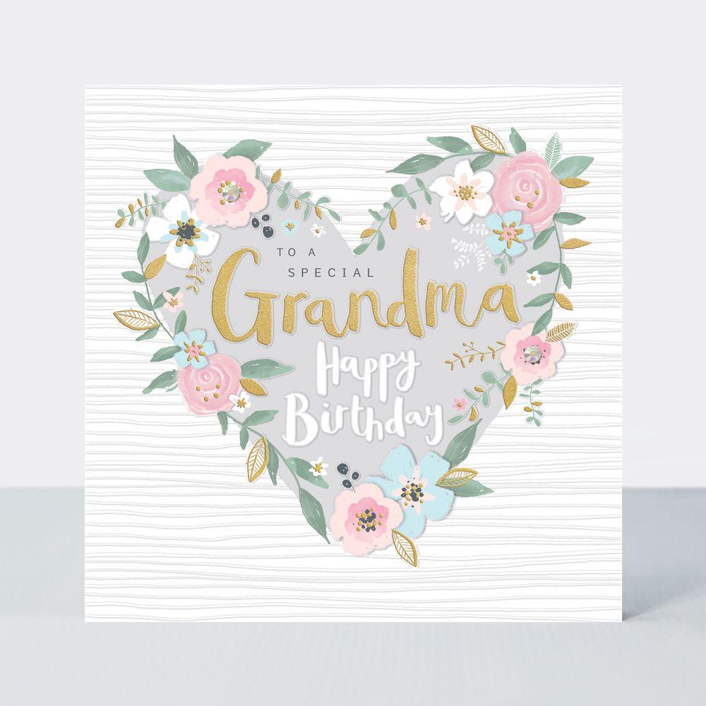 Granny Birthday Cards - To A SPECIAL Grandma - GRANDMA Birthday CARDS - HAP