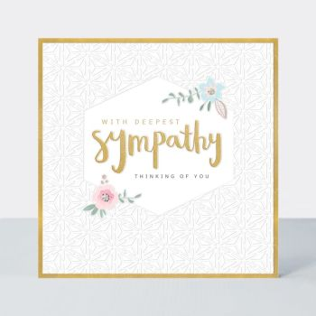With Deepest Sympathy Cards -  THINKING Of YOU - Condolence CARDS - PRETTY SYMPATHY Cards - CONDOLENCE Cards - FLORAL Sympathy CARD