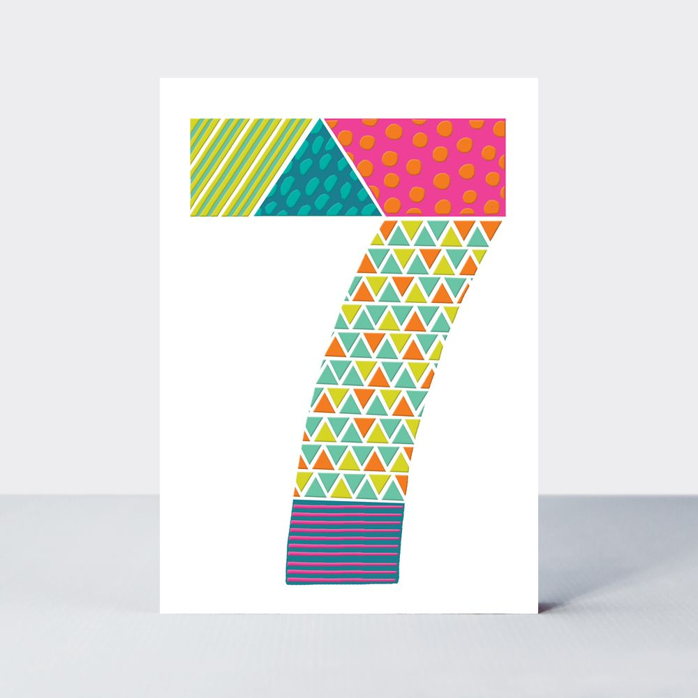 7th Birthday Cards - Childrens BIRTHDAY Cards - 7th BIRTHDAY Card FOR Boy -