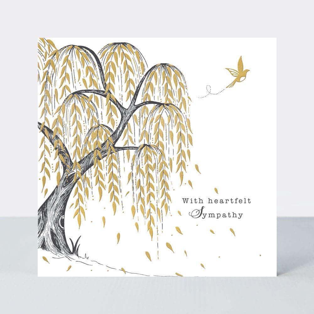 Willow Tree Sympathy Card - With HEARTFELT Sympathy - SYMPATHY & Condolence