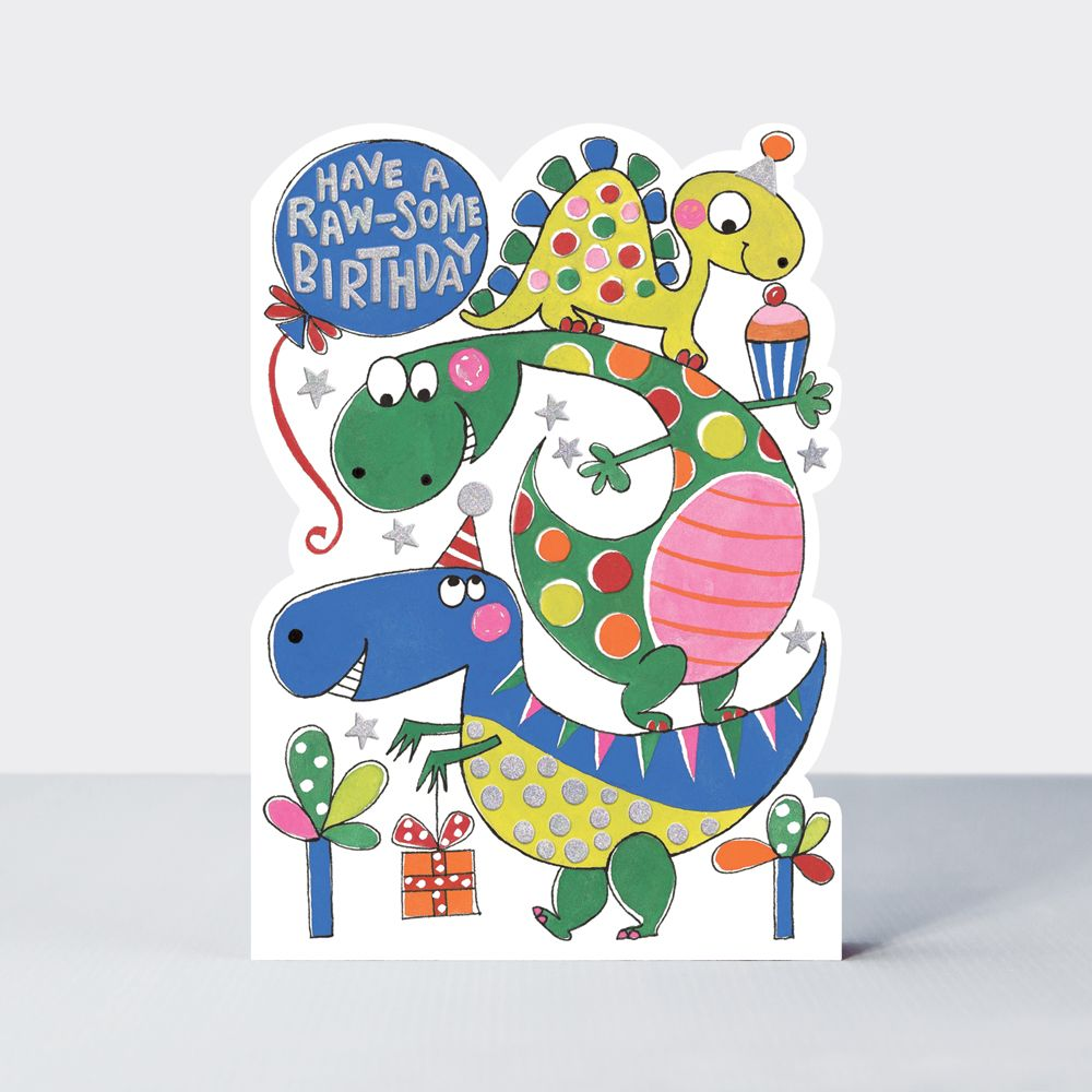Terrific Dinosaur Birthday Cards Have A Raw Some Birthday Childrens Funny Birthday Cards Online Fluifree Goldxyz