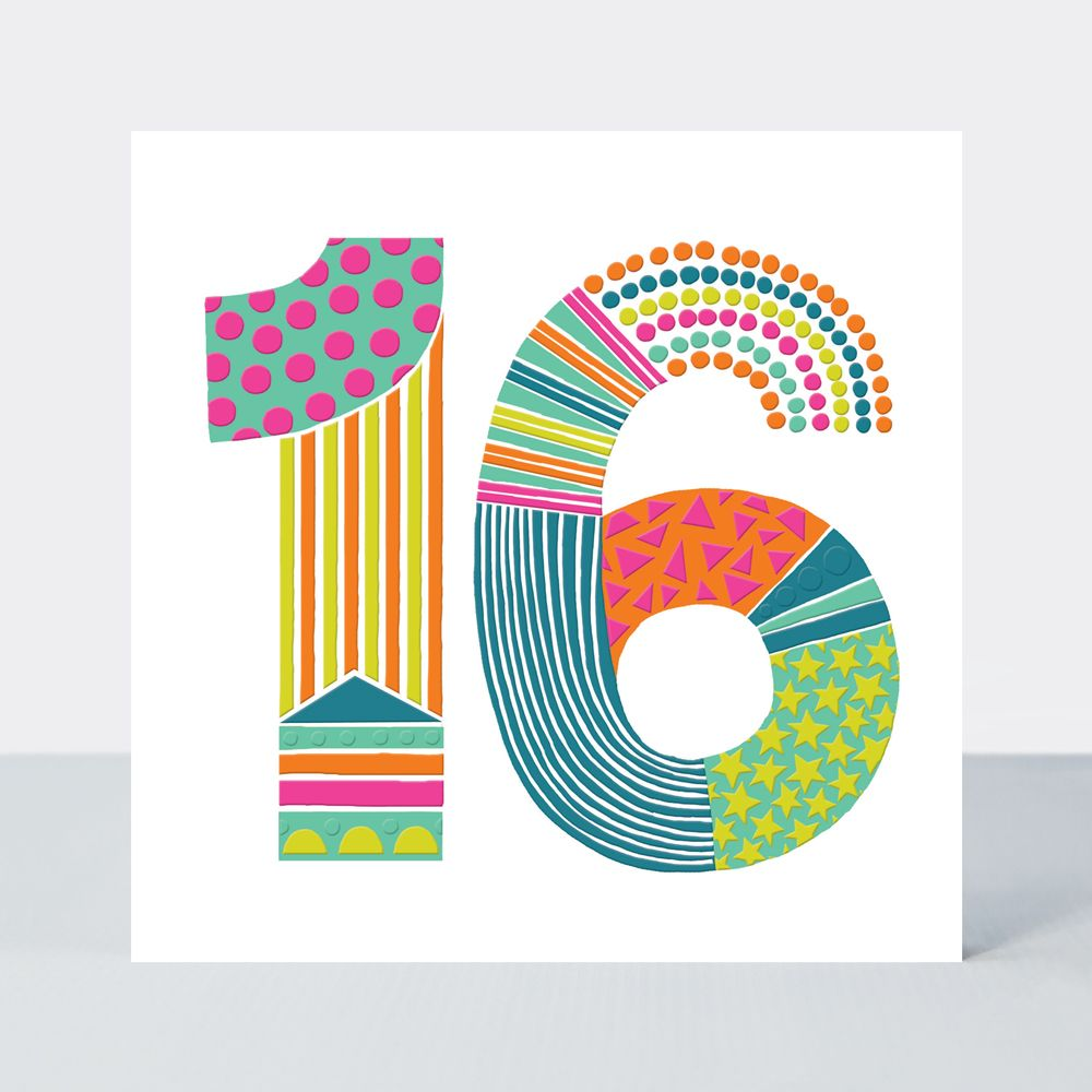 16th Birthday Cards - Teenager BIRTHDAY Cards - 16th BIRTHDAY Card FOR Girl