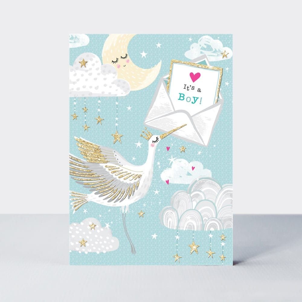 It's A Boy - New BABY Boy CARDS - New BABY Cards - Cute & SPARKLY New BABY