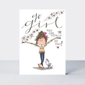 Friendship Cards - GO Girl YOU Can TOTALLY Do THIS - INSPIRATIONAL Cards - UNIQUE Cards For FRIENDS - Love & FRIENDSHIP Cards