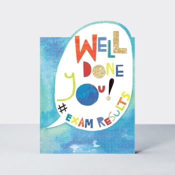 Exam Results Card - WELL Done YOU - EXAM Congratulation CARDS - Graduation CARDS -  Congratulations EXAM Card - CONGRATULATIONS Cards
