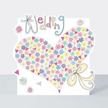 Love Heart Wedding Card - WEDDING - Floral HEART Wedding Card - WEDDING Day CARDS UK - Wedding CARDS - Pretty WEDDING Day GREETING Cards
