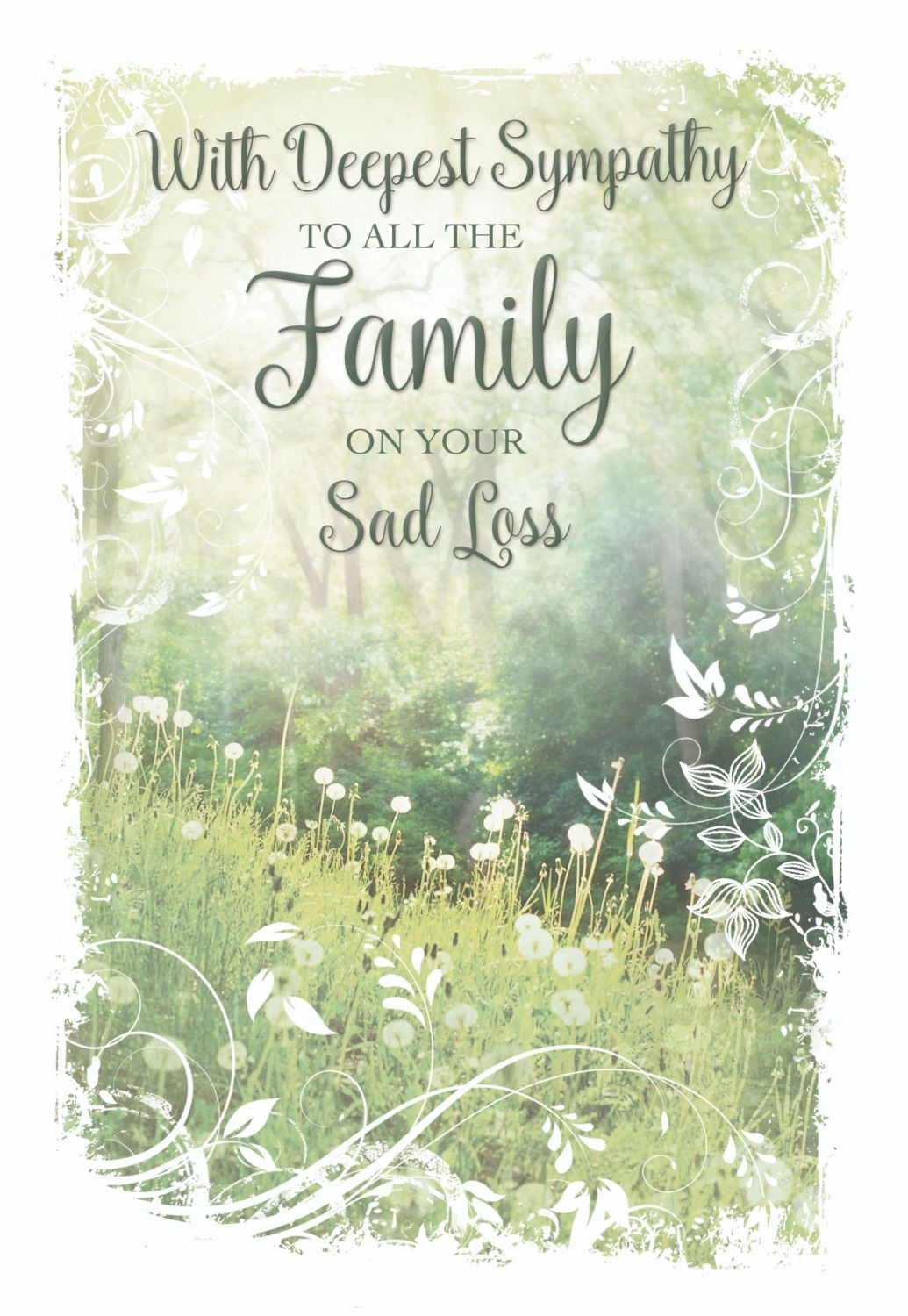 Family Bereavement Cards - To ALL The FAMILY - CONDOLENCE Cards - Sympathy