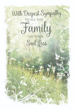 Family Bereavement Cards - To ALL The FAMILY - CONDOLENCE Cards - Sympathy CARDS -  BEREAVEMENT Cards FOR Family - With DEEPEST Sympathy