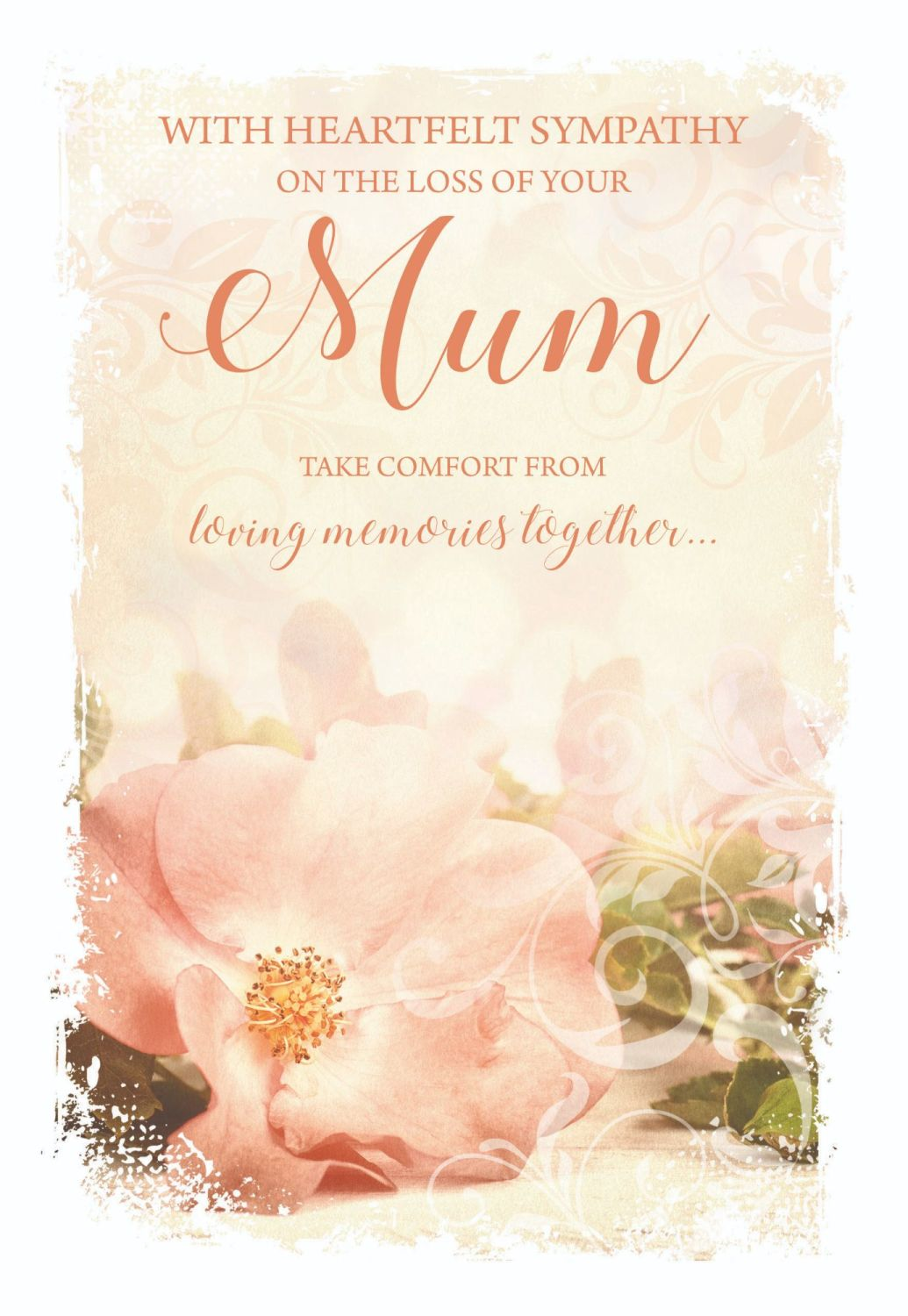 Mum Sympathy Cards - TAKE Comfort From LOVING Memories TOGETHER - Loss Of M