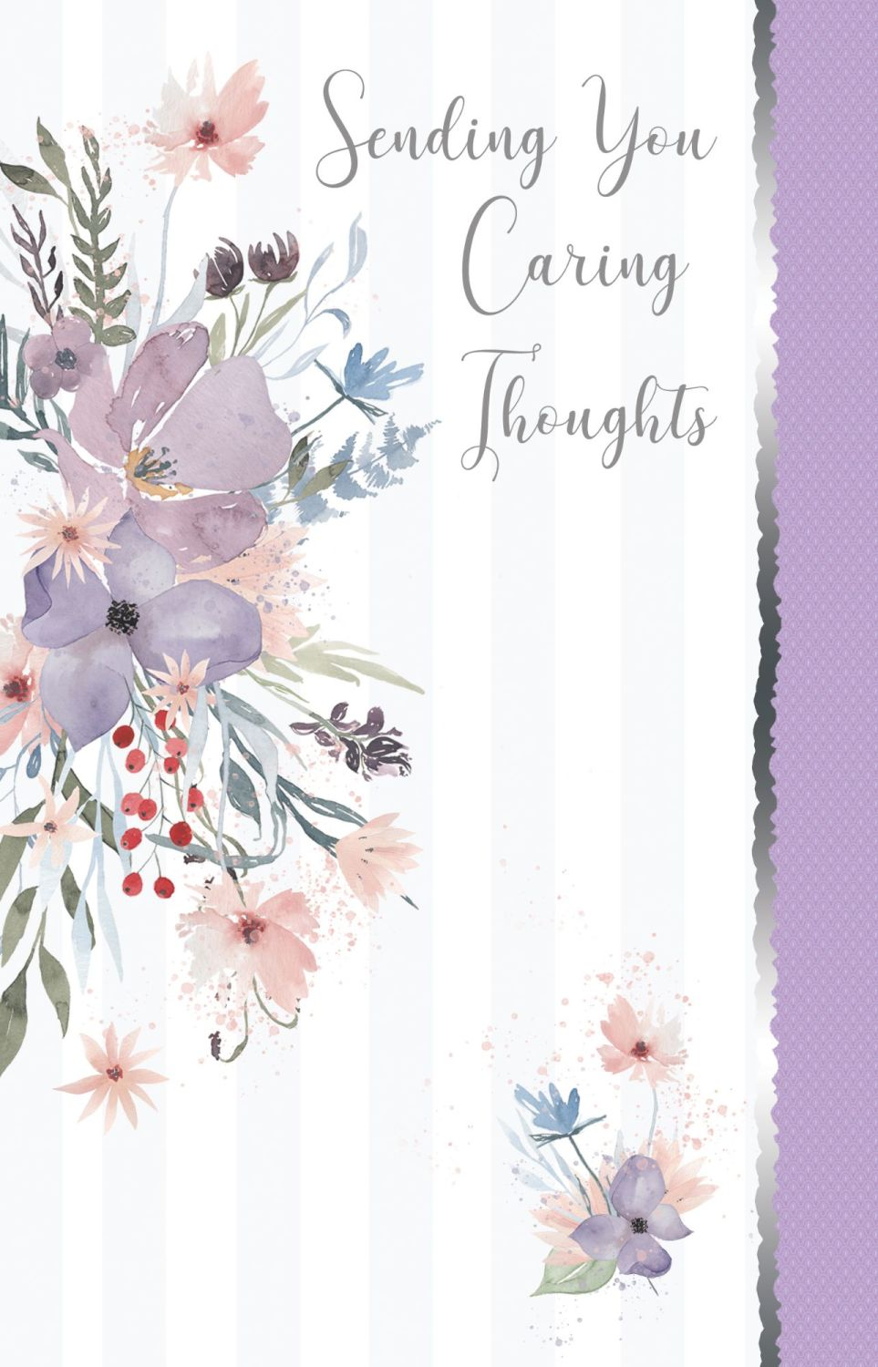 Floral Sympathy Cards - SENDING You CARING Thoughts - CONDOLENCE Cards - BE