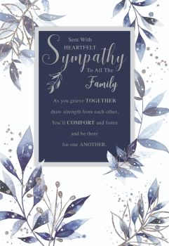 Family Sympathy Cards - Draw STRENGTH From EACH Other - SYMPATHY Cards - CONDOLENCE Cards - FAMILY Sympathy CARDS - Heartfelt Sympathy Cards