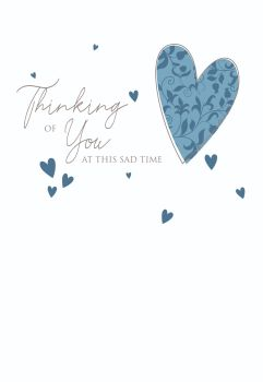 Thinking Of You Cards - THINKING Of YOU At This SAD Time - SYMPATHY Cards - CONDOLENCE Cards - BEREAVEMENT Cards