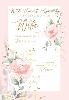 Wife Sympathy Cards - With DEEPEST Sympathy On THE Sad Loss Of YOUR WIFE - Bereavement CARDS - Condolence CARDS - LOSS OF Wife