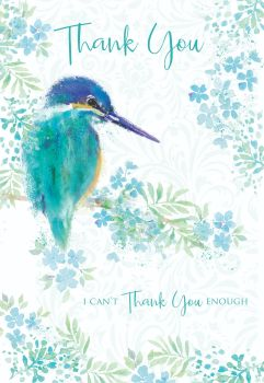 Bird On Branch Thank You Card - I Can't THANK YOU Enough - THANK You CARDS - Pretty THANK You CARD For HER - Thank YOU CARD For Mum - FRIEND - Gran