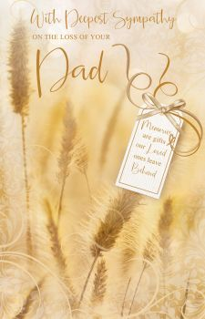 Dad Sympathy Cards - MEMORIES Are GIFTS Our LOVED Ones LEAVE Behind - LOSS Of DAD Cards - SYMPATHY Cards - Condolence CARDS