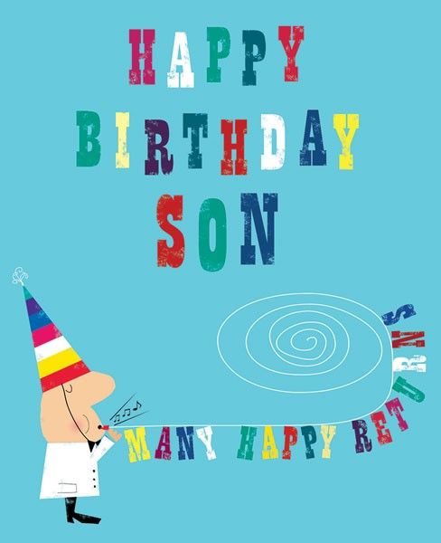 Happy Birthday Son Cards - MANY Happy RETURNS - Son BIRTHDAY Cards - FUNNY