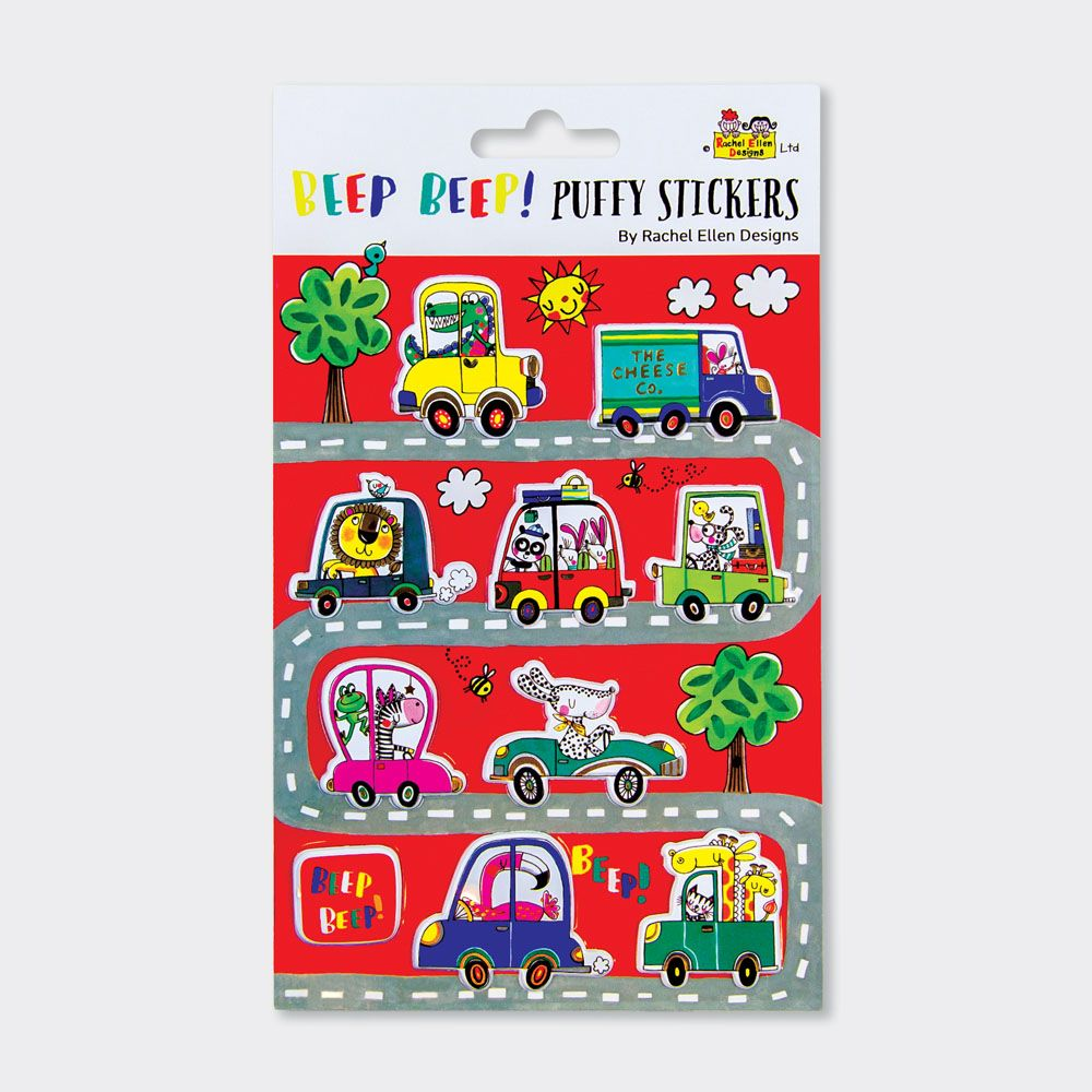 Car Puffy Stickers - PUFFY Stickers - Childrens STICKERS - Kids STICKERS -