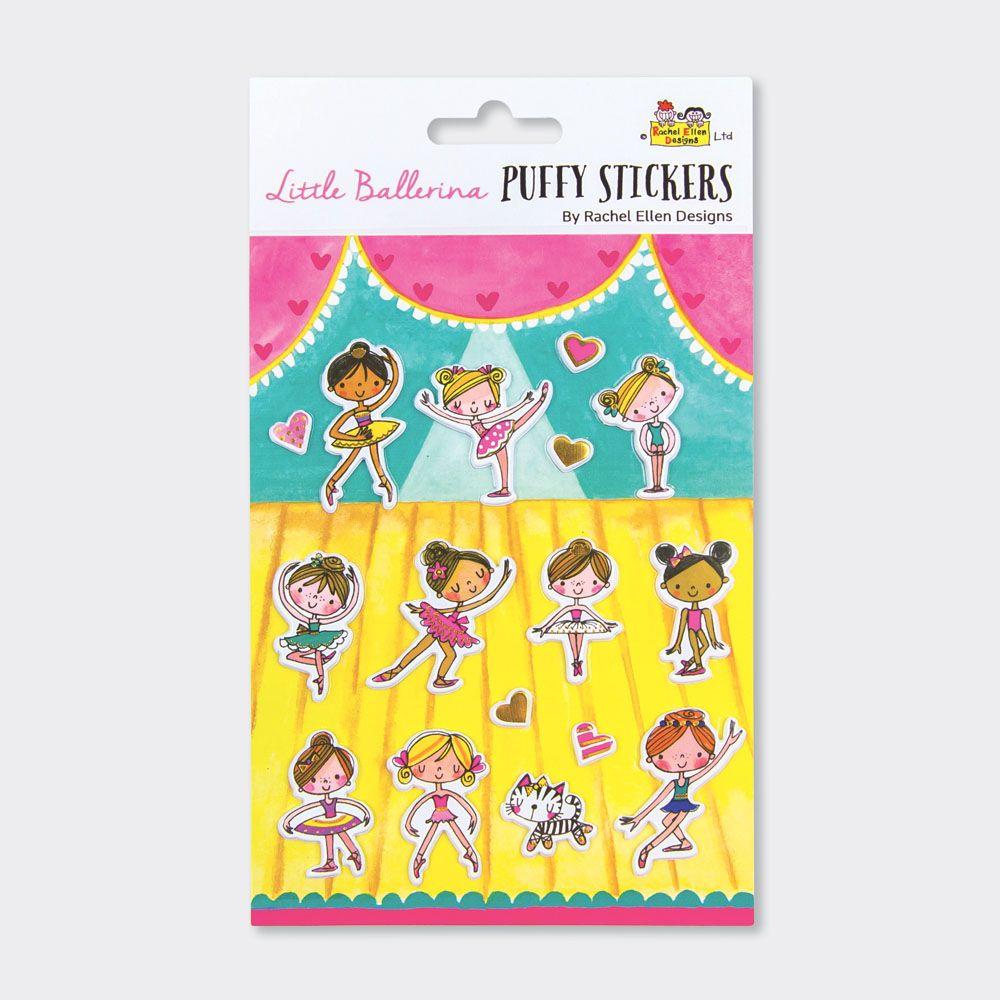 Ballerina Puffy Stickers - PUFFY Stickers - Childrens STICKERS - Kids STICK