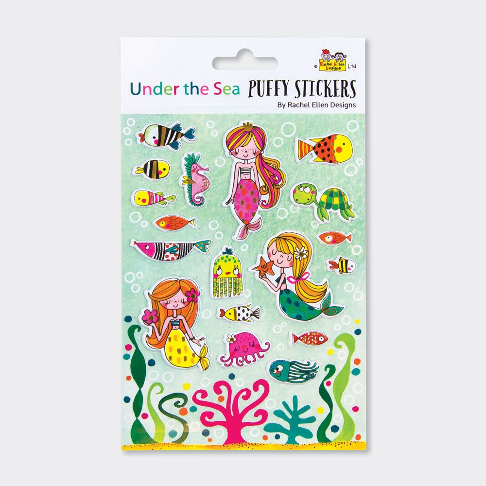Mermaid Puffy Stickers - PUFFY Stickers - Childrens STICKERS - Kids STICKER