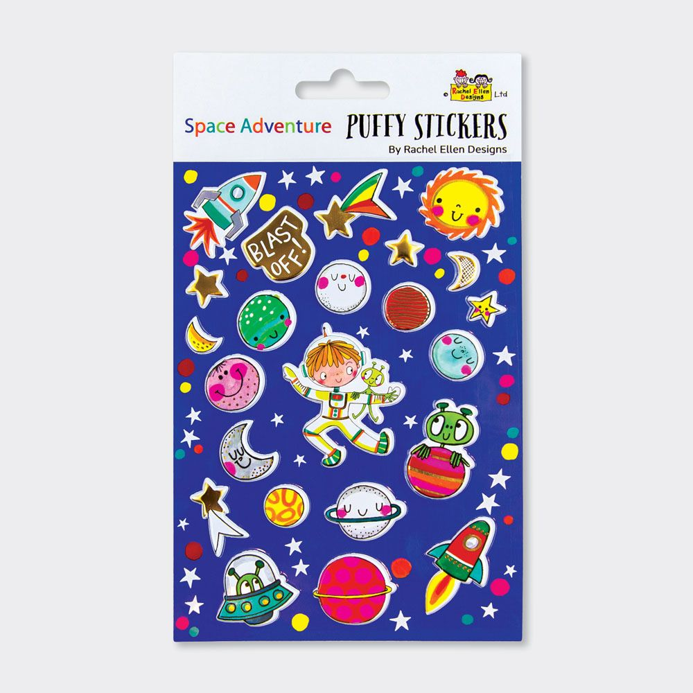 Space Adventure Puffy Stickers - PUFFY Stickers - Childrens STICKERS - Kids