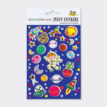 Space Adventure Puffy Stickers - PUFFY Stickers - Childrens STICKERS - Kids STICKERS - Kids CRAFT Supplies - SPACE ADVENTURE Stickers