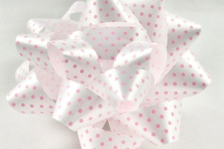 Confetti Bows - PINK & WHITE Polka DOT Confetti BOW - PACK Of 2 - 10CM - Sa