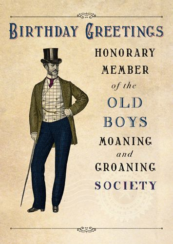 Funny Moaning & Groaning Birthday Cards - HONORARY Member - Funny BIRTHDAY