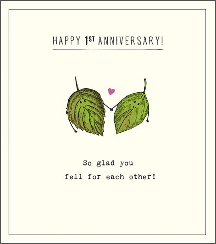 Funny 1st Wedding Anniversary Cards - HAPPY 1st ANNIVERSARY - So GLAD You F