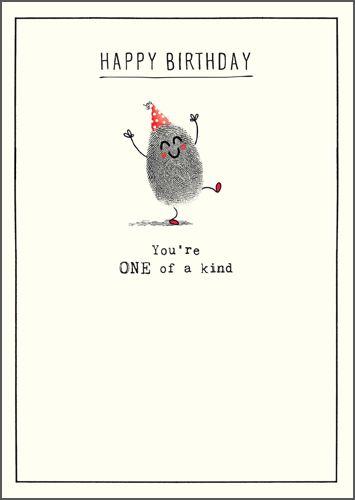 Happy Birthday Card - YOU'RE One Of A KIND - Funny BIRTHDAY Cards - BIRTHDA