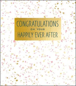 Greeting Cards Congratulations Wedding Cards - CONGRATULATIONS On Your HAPPILY Ever AFTER - Wedding CONGRATULATIONS Cards UK - STUNNING Wedding CARD