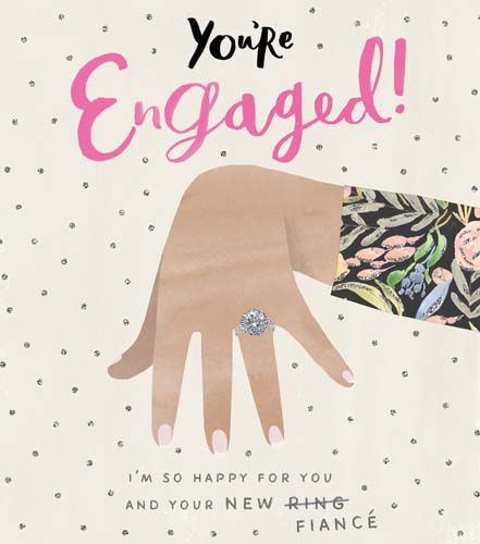 You're Engaged - FUNNY Engagement CARDS - So HAPPY For You & Your NEW RING