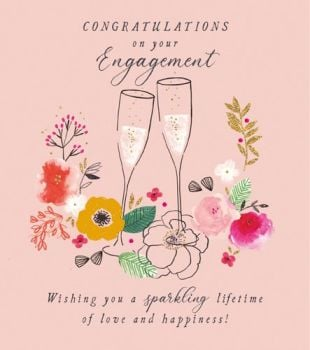 Congratulations On Your Engagement Cards - WISHING You A SPARKLING Lifetime OF LOVE & HAPPINESS - Engagement CARDS - Congratulations CARDS