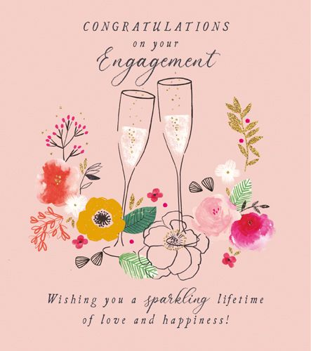 Congratulations On Your Engagement Cards - WISHING You A SPARKLING Lifetime