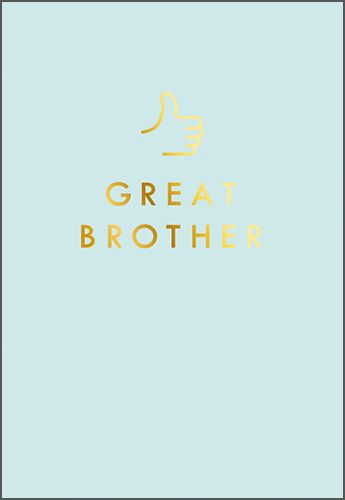 Great Brother Birthday Cards - GREAT Brother - THUMBS Up CARDS - BIRTHDAY C
