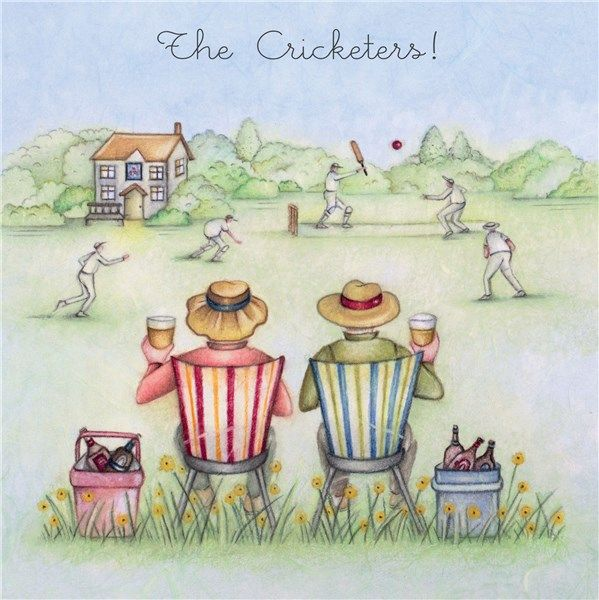 Cricket Birthday Cards - The CRICKETERS - Cricket CARDS - BIRTHDAY Cards Fo