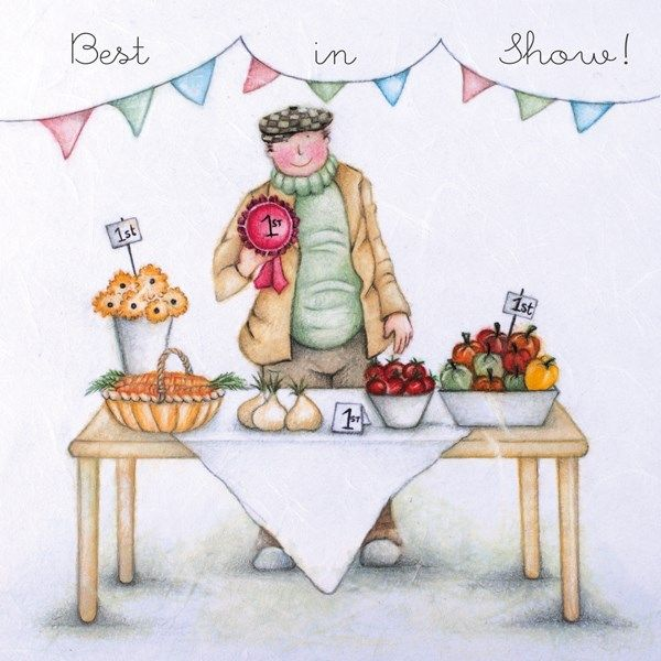 Gardener Birthday Cards - BEST In SHOW - Veg GROWERS Card - BIRTHDAY Cards