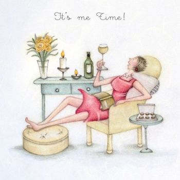 Pamper Birthday Card - IT'S Me TIME - Birthday CARDS For HER - Birthday CARD Pamper YOURSELF Living ROOM - Pamper CARD For BEST Friend - MUM - Wife