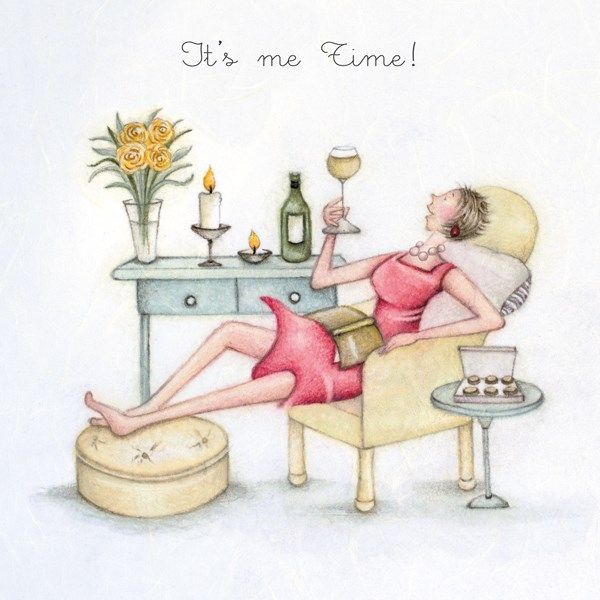 Pamper Birthday Card - IT'S Me TIME - Birthday CARDS For HER - Birthday CAR