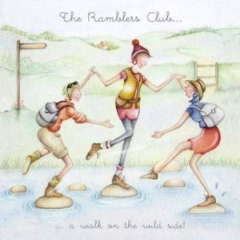 Funny Walking Cards - The RAMBLERS Club Birthday CARD - A Walk On THE Wild SIDE - WALKING Cards - Funny  Birthday CARDS For FRIEND